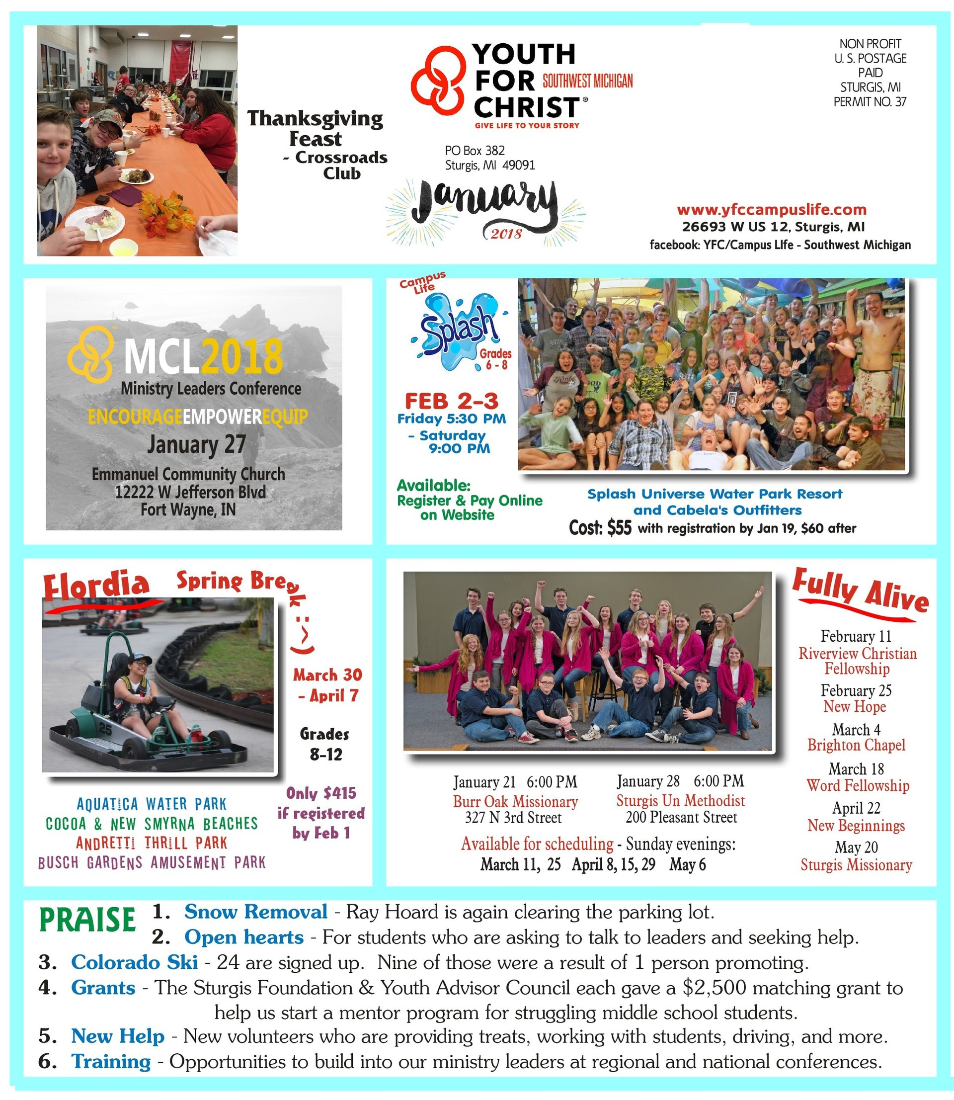 the yfc newsletter Summer newsletter check out our 2018 'culture report' interview w our south etobicoke team from our 2018 yu times hot off the press our 2018 'signs of the times.